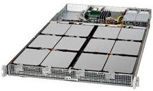 שרת אחסון 1U אידאלי לאחסון וחסכון במקום בחוות שרתים כולל  40TB  HDD+240GB SSD X2 + 128GB RAM – SUPER MICRO