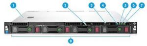 שרת HP ProLiant DL160 G9 E5-2609 v3 Up To 8 HDD K8J94A – HP