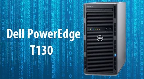 שרת Dell PowerEdge T130 E3-1220V5  8GB,  1TB SATA