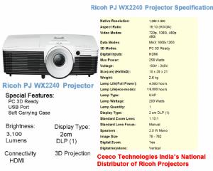 RICOH PJ WX2240