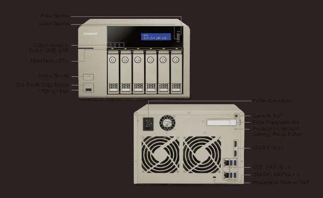 QNAP TVS-663-8G,6 Bay NAS,AMD GX-424CC QC 2.4GHz - qnap