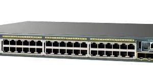 רכזת/ממתג רשת Cisco Catalyst 2960-X 48 Port PoE 370W 2x10G SFP+ LAN Base WS-C2960X-48LPD-L