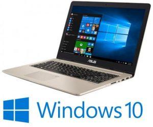 מחשב נייד ללא מסך מגע Asus VivoBook Pro N580VD-E4540T – צבע זהב מסך 15.6 אינטש ברזולוציית FHD, מעבד Intel® Core™ i5-7300HQ 2.5GHz – 3.5GHz, זיכרון פנימי בנפח 8GB, כונן קשיח 1TB וכונן SSD בנפח 128GB, מקלדת מוארת וכרטיס מסך Nvidia GeForce GTX 1050 4GB