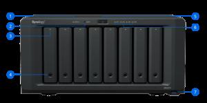 שרת אחסון מקצועי NAS ללא כוננים Synology DiskStation DS1817+ 8-Bay