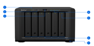 שרת אחסון מקצועי NAS ללא כוננים Synology DiskStation DS1618+ 6-Bay