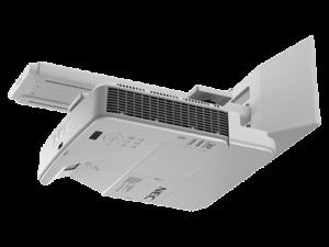מקרן Nec U321HI 3200-Lumen Interactive Ultra Short Throw Projector w/ Touch Module and Wall Mount
