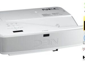 מקרן Nec U321H Full HD טווח קצר צמוד קיר כולל מתקן יעודי
