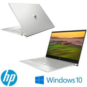 """מחשב נייד """"13.3 HP ENVY 13-AH0001NJ 4AT97EA i7-8550U בצבע כסוף, כונן 512GBSSD, זכרון 8GB ומ.גרפי Nvidia MX150"""