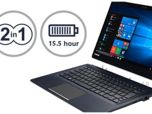 """מחשב נייד PORTÉGÉ  X30T-E-109 – 13.3"""" Touch FHD-2 in 1/i7-8550U/16GB/1TB SSD-PCIe/3G-LTE/1.39kg/Win10Pro/3YIW P&R"""