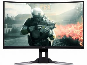 Acer XZ321QUbmijpphzx 31.5 Inch WQHD Curved 1800R Gaming Monitor, Black (VA Panel, FreeSync, 144 Hz, 1 ms, HDR Ready, ZeroFrame, DP, HDMI, USB Hub, Height Adjustable Stand)