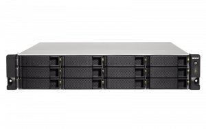 QNAP 1253BU-RP    12 BAY quad-core rackmount NAS with PCIe slot diverse storage