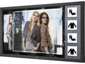 """NEC V801-TM Interactive Touchscreen Display 80"""" 6-Touch (Finger) HD 1080p LED Infrared Touchscreen Display מסך מגע"""
