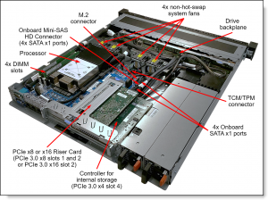 """שרת ThinkSystem SR250    SR250 Xeon 6C E-2146G 3.5GHz 16G 2.5"""" HS 450W"""