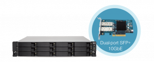 QNAP TVS-1273U-RP-16G   High-performance 12 BAY quad-core NAS with dual 10GbE SFP