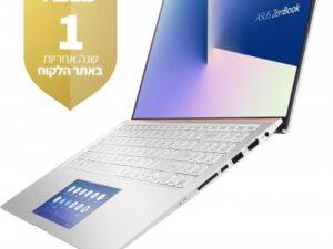 מחשב נייד מעבד Intel® Core™ i7-10510U , זיכרון פנימי בנפח 16GB, כונן SSD  1TB  NVIDIA® GeForce® GTX 1650 4GB  Asus Zenbook 15 UX534FTC-A8190T – צבע כסוף