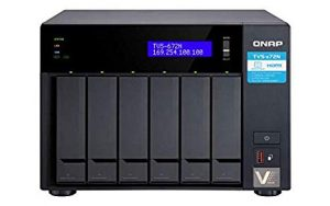 QNAP TVs-672N-i3-4G-US  NAS with 5GbE, Intel Core i3, Dual Pci-E and Dual M.2 Slots, 4GB DDR4 Memory, USB Type-C Ports, Supports SSD Cache