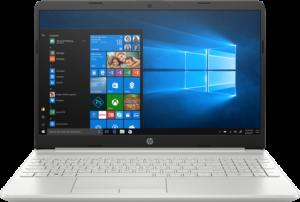 מחשב נייד מעבד Intel® Core™ i7-10510U , זיכרון פנימי בנפח 16GB, כונן SSD בנפח 512GB, מאיץ גרפי NVIDIA GeForce® MX130 2GB HP Laptop 15- – צבע כסוף