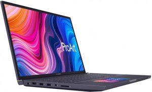 מחשב נייד למעצבים Asus ProArt StudioBook Pro X מעבד Intel® Core™ i7-9750H 2.60GHz – 4.50GHz, זיכרון פנימי בנפח 64GB, כונן קשיח בנפח 1TB, כונן SSD בנפח 1TB, מאיץ גרפי NVIDIA® Quadro® T2000 4GB – צבע אפור