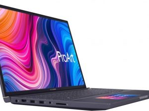 מחשב נייד למעצבים Asus ProArt StudioBook Pro X מעבד Intel® Core™ i7-9750H 2.60GHz – 4.50GHz, זיכרון פנימי בנפח 64GB, כונן קשיח בנפח 1TB, כונן SSD בנפח 1TB, מאיץ גרפי NVIDIA® Quadro® T2000 4GB – צבע אפור