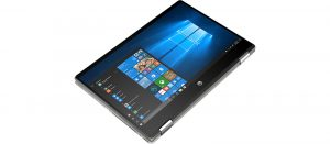 """מחשב נייד i7-10510U,  16GB,  512GB SSD, מסך מגע """"14, מאיץ גרפי Nvidia GeForce MX250 ומקלדת מוארת HP Pavilion X360 14-dh1003nj 8PL22EA"""