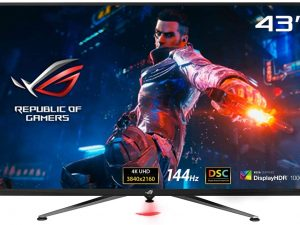 ASUS ROG Swift PG43UQ DSC Gaming Monitor — 43-inch 4K UHD (3840 x 2160), 144Hz, G-Sync, DSC, DisplayHDR™ 1000, DCI-P3 90%, Shadow Boost