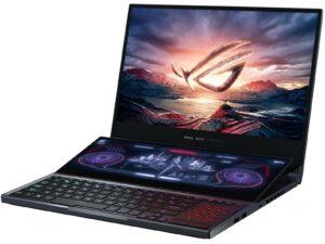 מחשב נייד גיימינג ASUS ROG Zephyrus Duo 15  GX550LXS-HF154R i9-10980HK 15.6 2TB-M.2 32GB  W10P 1Y