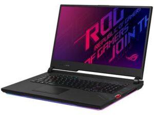 מעבד Intel® Core™ i7-10875H 2.30GHz – 5.10GHz  32GB, שני כונני SSD בנפח 1TB, מאיץ גרפי NVIDIA® GeForce® RTX 2080 Super 8GB מחשב נייד לגיימרים Asus ROG Strix SCAR 17 G732LXS-HG138T – צבע שחור
