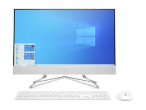 "מחשב All In One HP 23.8"" Intel Core i5-10400T 24-DF0013NJ 2K0Q0EA בצבע לבן"
