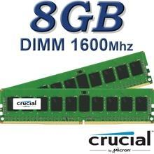 זיכרון למחשב נייח 8GB 1600Mhz Crucial CT102464BD160B