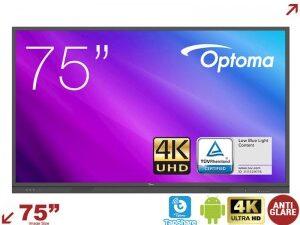 """מסך אינטרקטיבי מגע Optoma 3751RK 75"""" 4K Interactive Flat"""